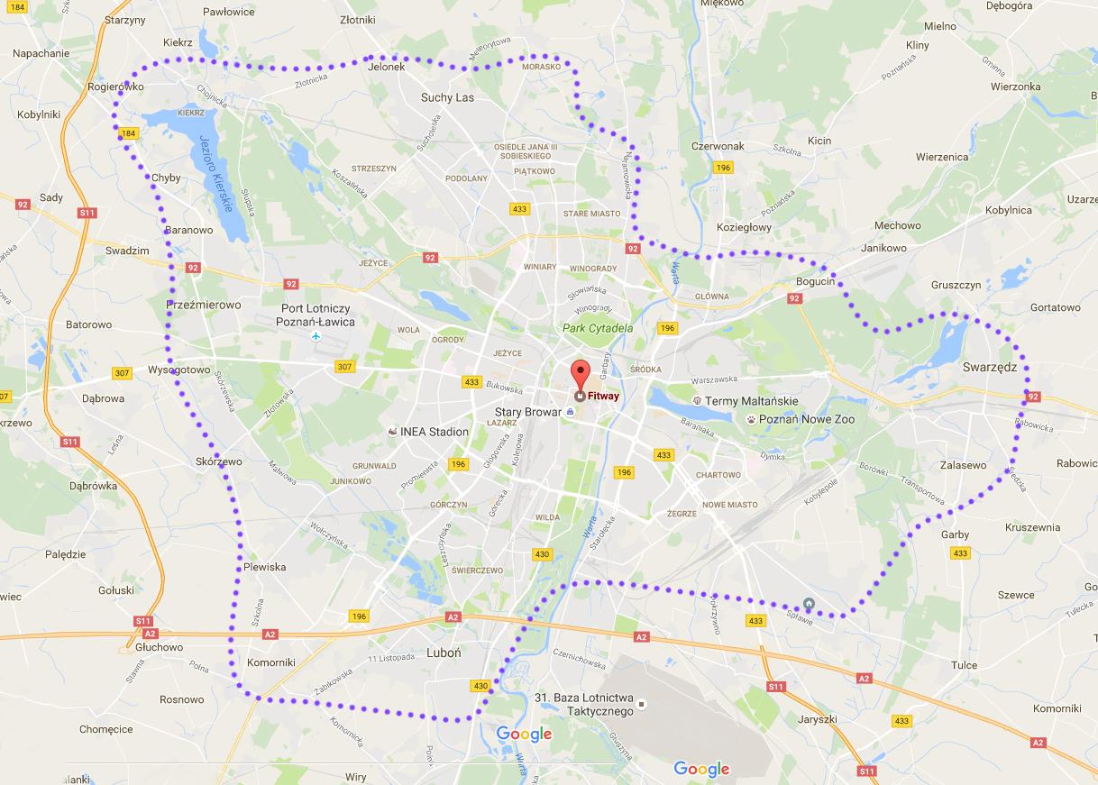 Fitway mapa dostaw